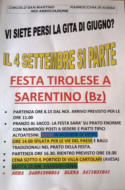 Locandina Sarentino