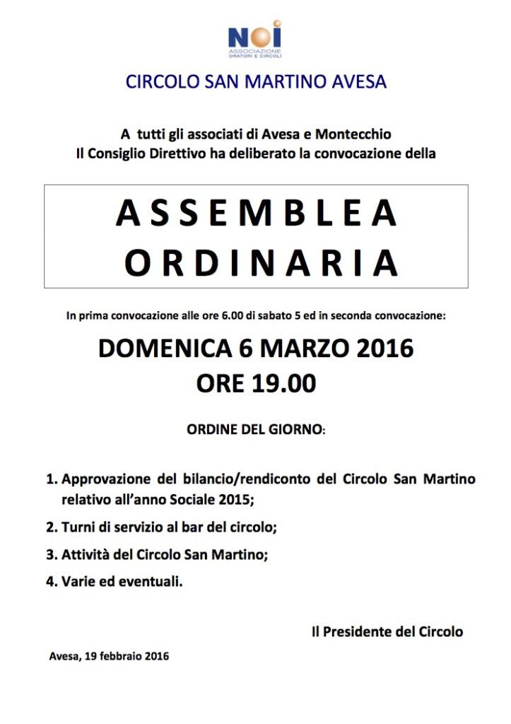 Convocazione Assemblea Ordinaria soci